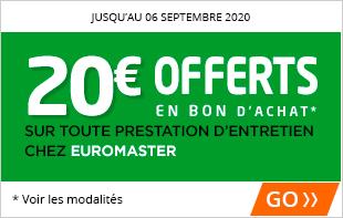 20€ offerts pour l'achat de 2 pneus